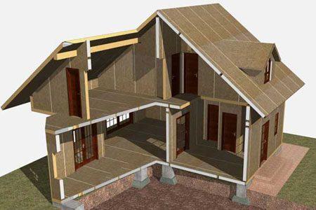 Строительство зданий на основе стеновых SIP панелей в Красноярске